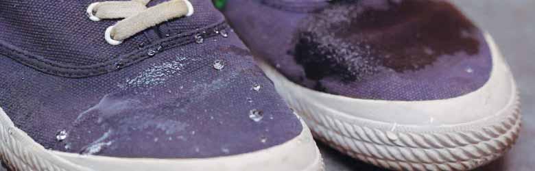 schoenen waterdicht maken, waterdichte schoenen, geimpregneerde schoenen